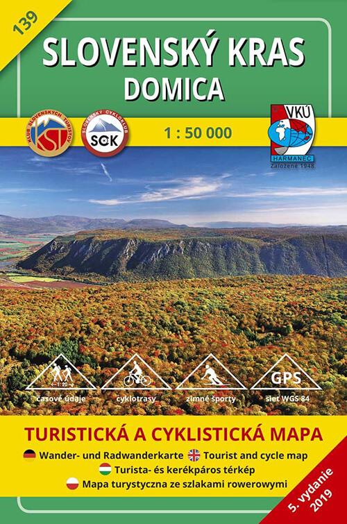 VKÚ Harmanec Turistická mapa Slovenský kras - Domica 1:50 000 TM 139