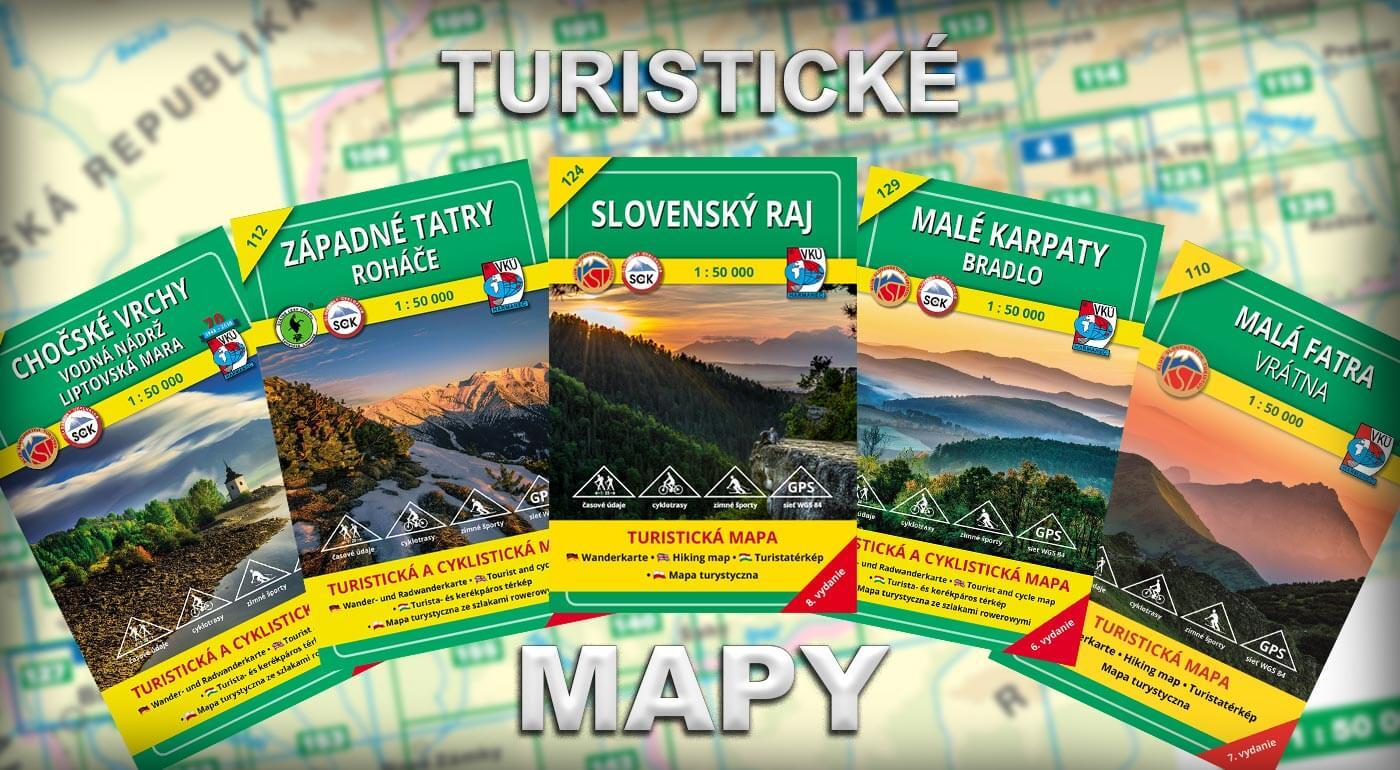 Turistické mapy VKÚ Harmanec z vydavateľstva CBS - najlepší doplnok na objavovanie Slovenska!