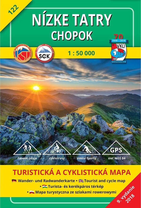 VKÚ Harmanec Turistická mapa Nízke Tatry - Chopok 1:50 000 TM 122