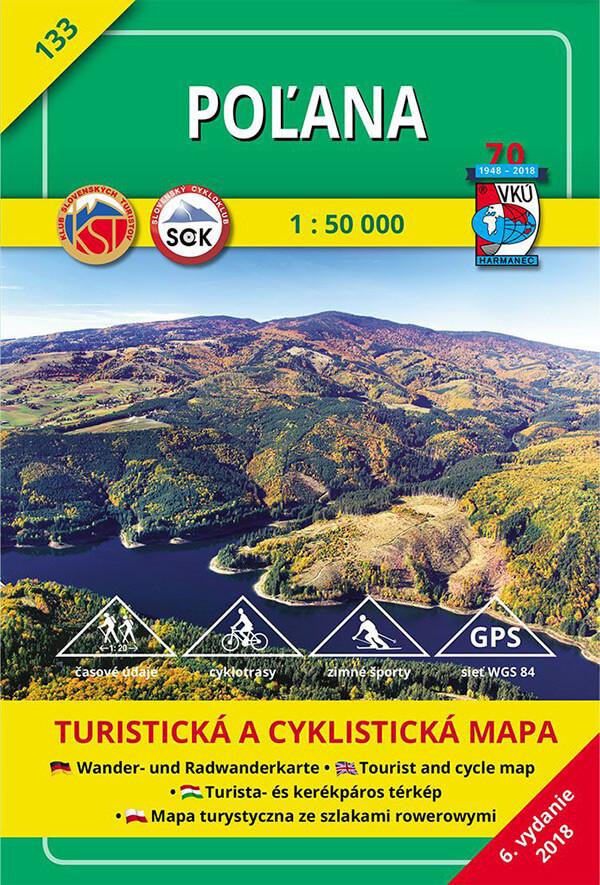 VKÚ Harmanec Turistická mapa Poľana 1:50 000 TM 133
