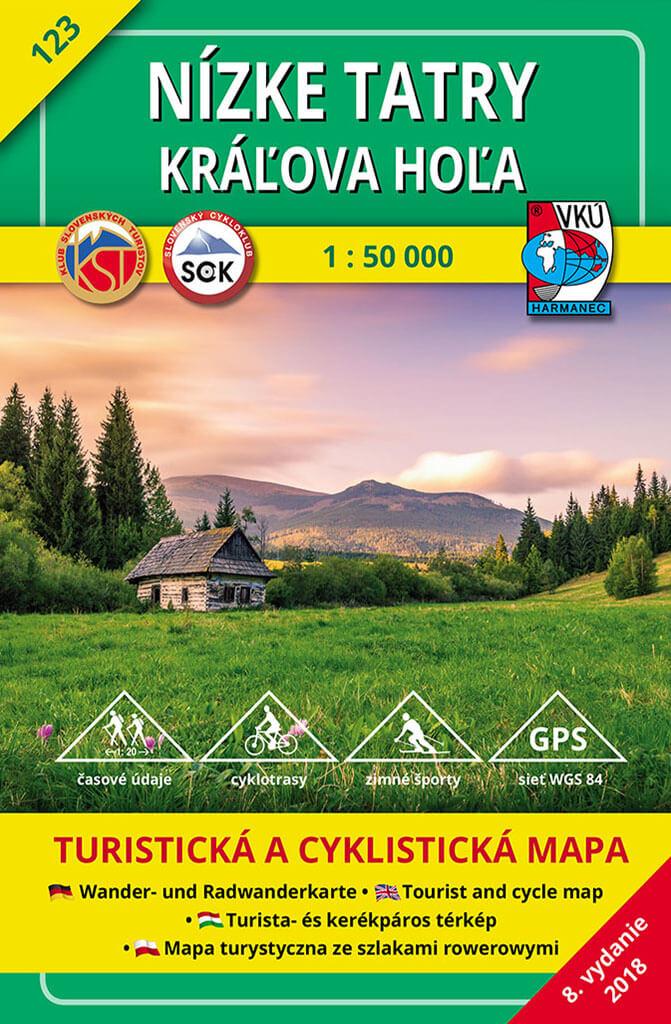 VKÚ Harmanec Turistická mapa Nízke Tatry - Kráľova hoľa 1:50 000 TM 123
