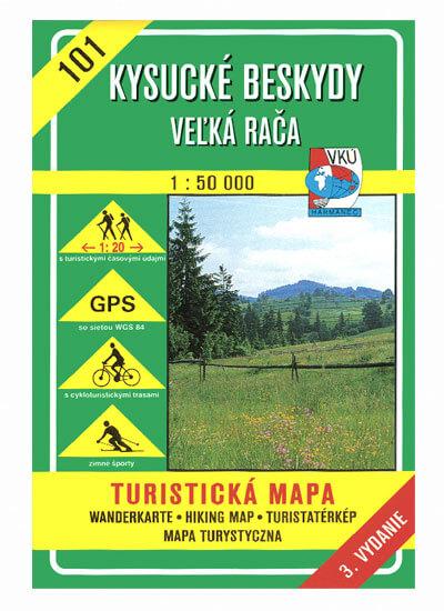 VKÚ Harmanec Turistická mapa Kysucké Beskydy - Veľká Rača 1:50 000 TM 101