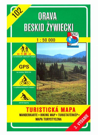 VKÚ Harmanec Turistická mapa Orava - Beskid Zyviecki 1:50 000 TM 102