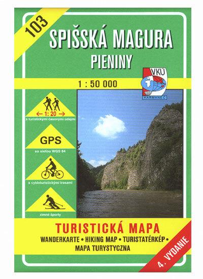 VKÚ Harmanec Turistická mapa Spišská Magura - Pieniny 1:50 000 TM 103