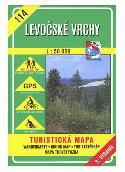 VKÚ Harmanec Turistická mapa Levočské vrchy 1:50 000 TM 114