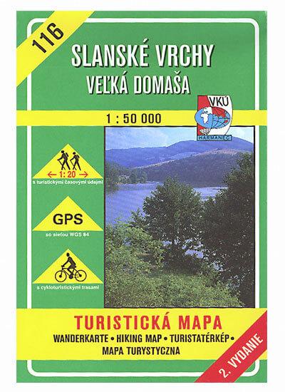 VKÚ Harmanec Turistická mapa Slanské vrchy - Veľká Domaša 1:50 000 TM 116