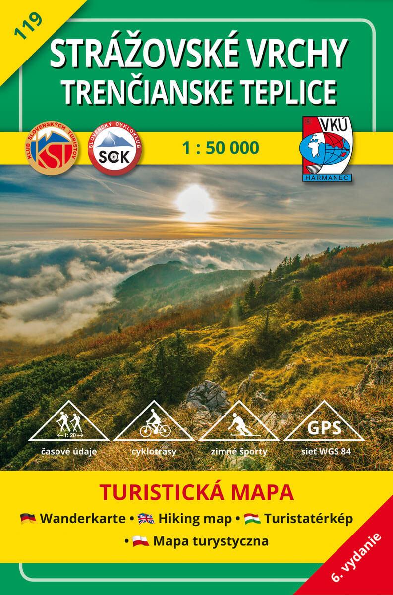 VKÚ Harmanec Turistická mapa Strážovské vrchy, Trenčianske Teplice 1:50 000 TM 119