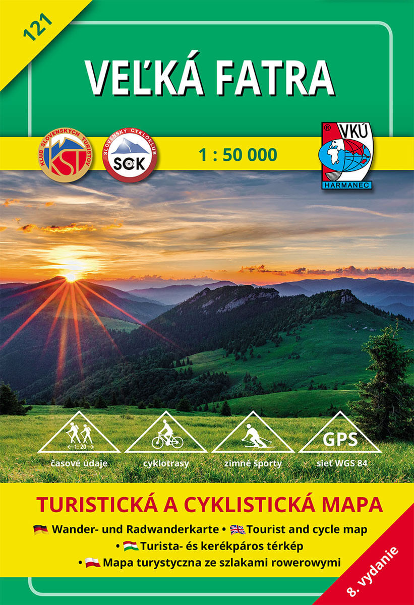 VKÚ Harmanec Turistická mapa Veľká Fatra 1:50 000 TM 121