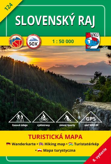 VKÚ Harmanec Turistická mapa Slovenský raj 1:50 000 TM 124