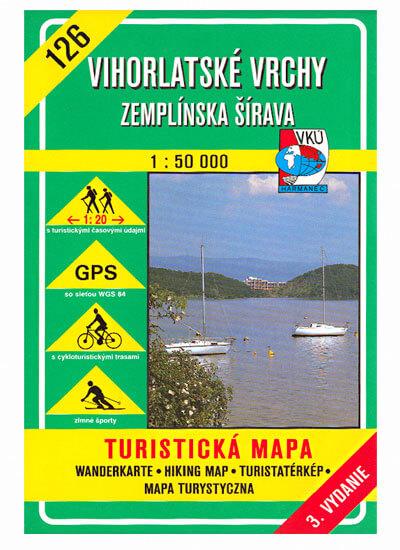 VKÚ Harmanec Turistická mapa Vihorlatské vrchy - Zemplínska Šírava 1:50 000 TM 126