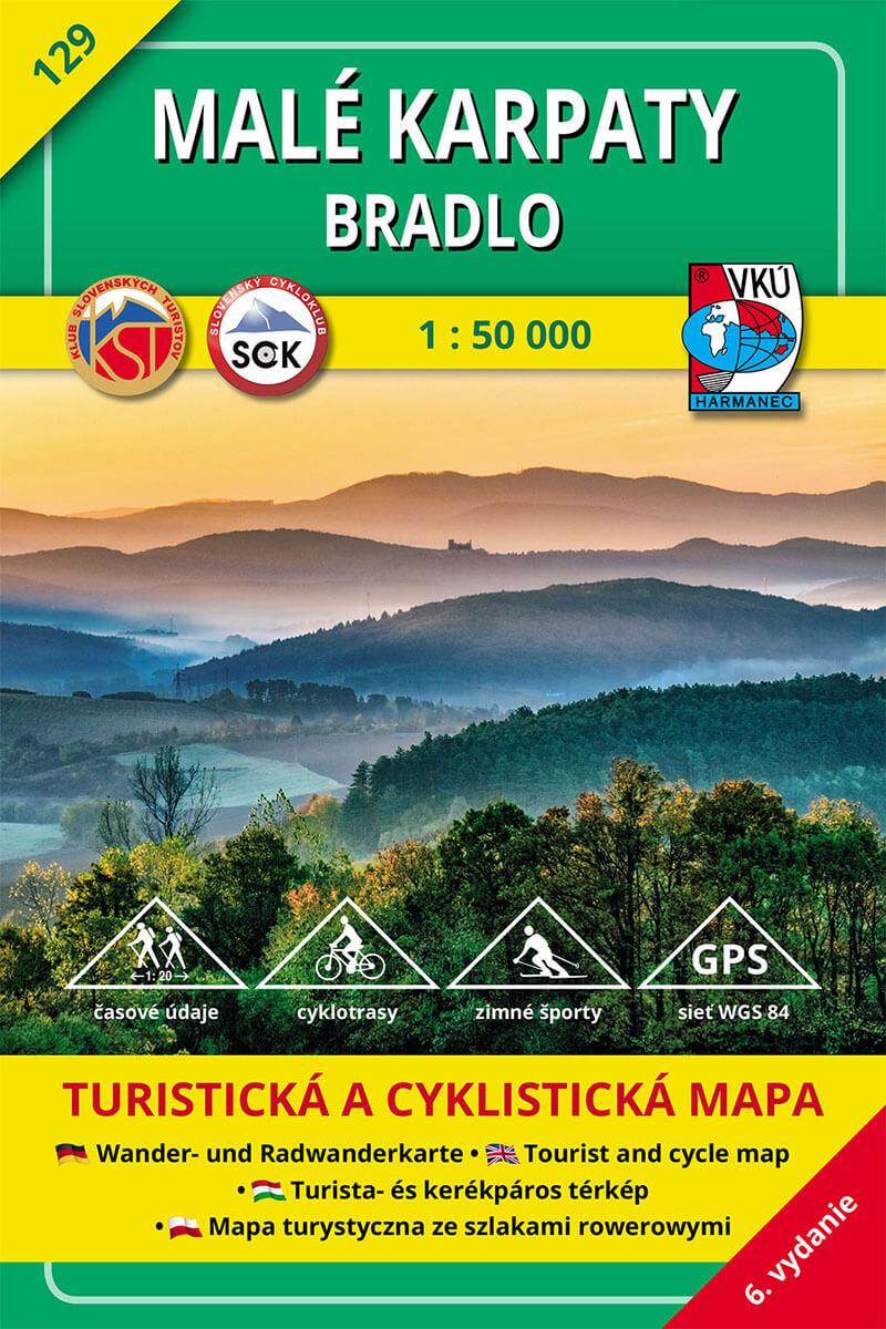 VKÚ Harmanec Turistická mapa Malé Karpaty - Bradlo 1:50 000 TM 129