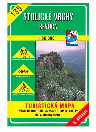 VKÚ Harmanec Turistická mapa Stolické vrchy - Revúca 1:50 000 TM 135