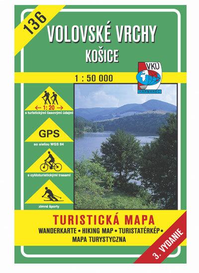 VKÚ Harmanec Turistická mapa Volovské vrchy - Košice 1:50 000 TM 136