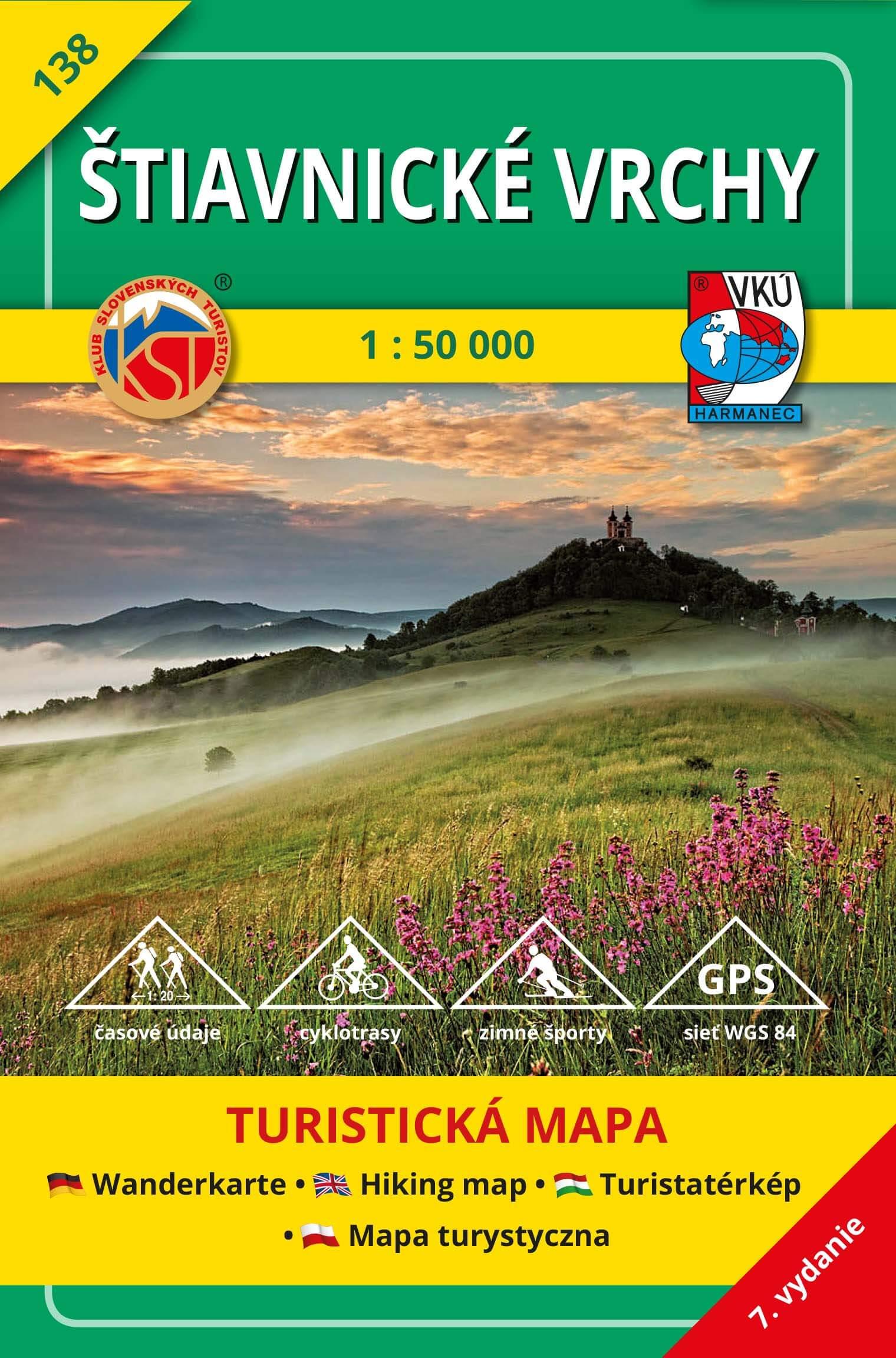 VKÚ Harmanec Turistická mapa Štiavnické vrchy 1:50 000 TM 138