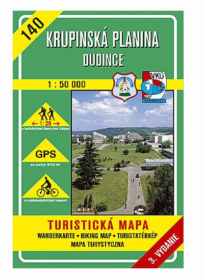 VKÚ Harmanec Turistická mapa Krupinská planina - Dudince 1:50 000 TM 140