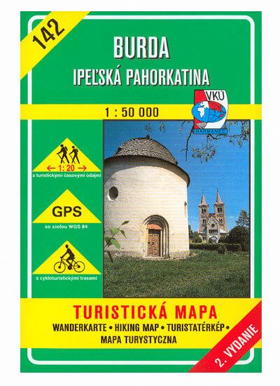 VKÚ Harmanec Turistická mapa Burda - Ipeľská pahorkatina 1:50 000 TM 142