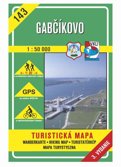 VKÚ Harmanec Turistická mapa Gabčíkovo (3. vydanie) 1:50 000 TM 143
