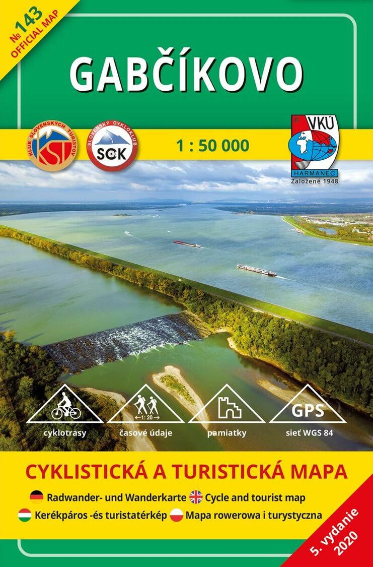 VKÚ Harmanec Turistická mapa Gabčíkovo (5. vydanie) 1:50 000 TM 143