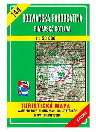 VKÚ Harmanec Turistická mapa Bodvianska pahorkatina - Rimavská kotlina 1:50 000 TM 144
