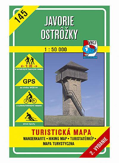 VKÚ Harmanec Turistická mapa Javorie - Ostrôžky 1:50 000 TM 145
