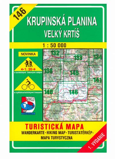 VKÚ Harmanec Turistická mapa Krupinská planina - Veľký Krtíš 1:50 000 TM 146