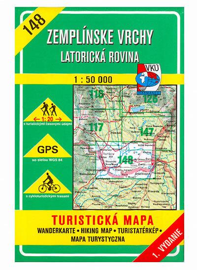 VKÚ Harmanec Turistická mapa Zemplínske vrchy - Latorická rovina 1:50 000 TM 148