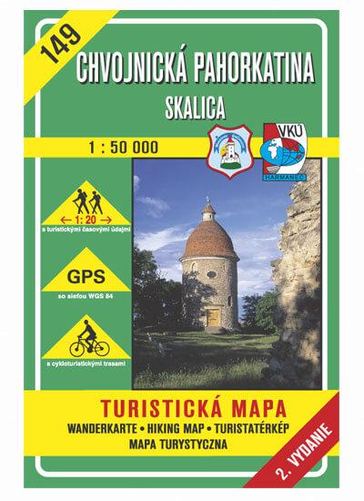 VKÚ Harmanec Turistická mapa Chvojnická pahorkatina - Skalica 1:50 000 TM 149