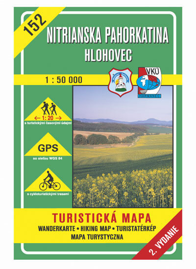 VKÚ Harmanec Turistická mapa Nitrianska pahorkatina - Hlohovec 1:50 000 TM 152