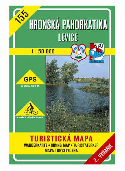VKÚ Harmanec Turistická mapa Hronská pahorkatina - Levice 1:50 000 TM 155
