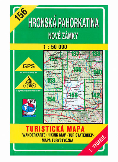 VKÚ Harmanec Turistická mapa Hronská pahorkatina - Nové Zámky 1:50 000 TM 156