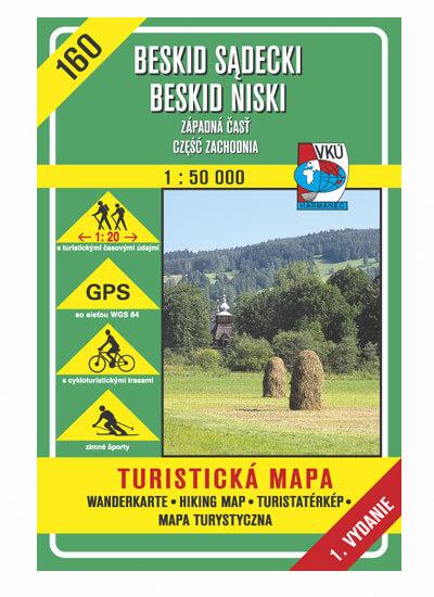 VKÚ Harmanec Turistická mapa Beskid Sadecki, Beskid Niski - západná časť, czesc zachodnia (SK-PL) TM 160