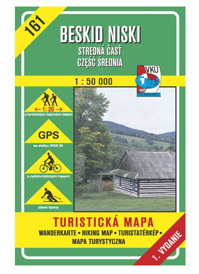VKÚ Harmanec Turistická mapa Beskid Niski - stredná časť, czesc srednia (SK-PL) 1:50 000 TM 161