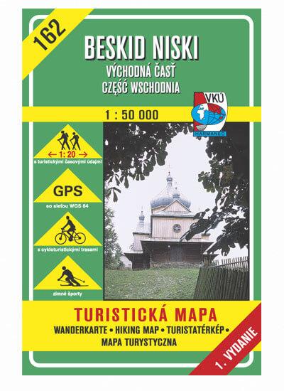 VKÚ Harmanec Turistická mapa Beskid Niski - východná časť, czesc wschodnia (SK-PL) 1:50 000 TM 162