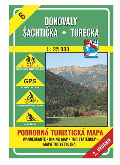 VKÚ Harmanec Turistická mapa Donovaly, Šachtička, Turecká 1:25 000 TM 6
