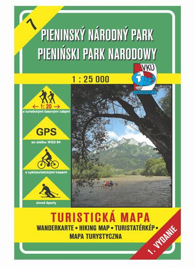 VKÚ Harmanec Turistická mapa Pieninský národný park 1:25 000 TM 7