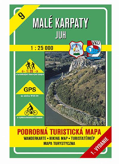VKÚ Harmanec Turistická mapa Malé Karpaty - Juh 1:25 000 TM 9