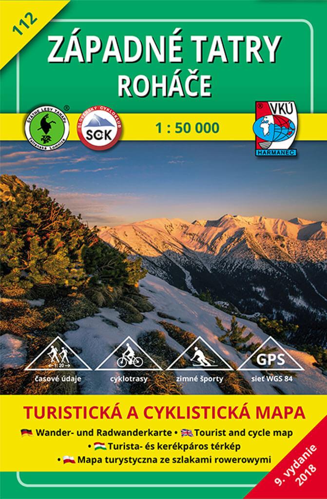 VKÚ Harmanec Turistická mapa Západné Tatry - Roháče 1:50 000 TM 112