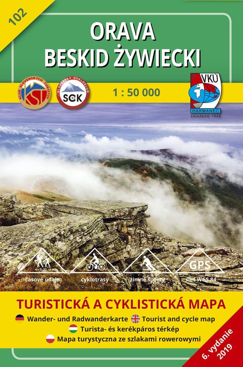 VKÚ Harmanec Turistická mapa Orava - Beskid Zywiecki 1:50 000 TM 102