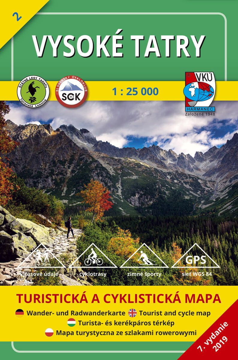 VKÚ Harmanec Turistická mapa Vysoké Tatry 1:25 000 TM 2