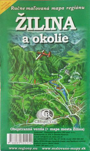 Maľovaná mapa CBS Žilina a okolie - obojstranná verzia