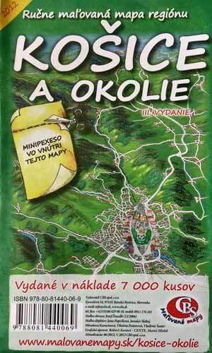 Maľovaná mapa CBS Košice a okolie - skladaná