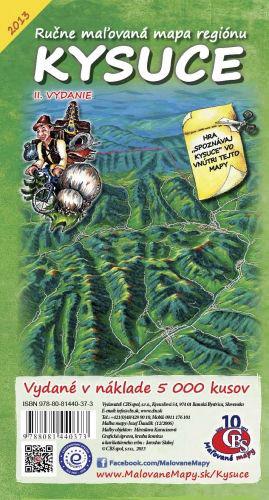 Maľovaná mapa CBS Kysuce - skladaná