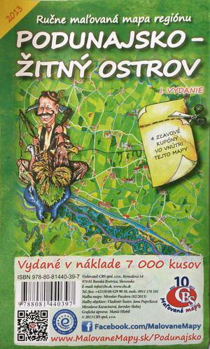 Maľovaná mapa CBS Podunajsko - Žitný ostrov - skladaná