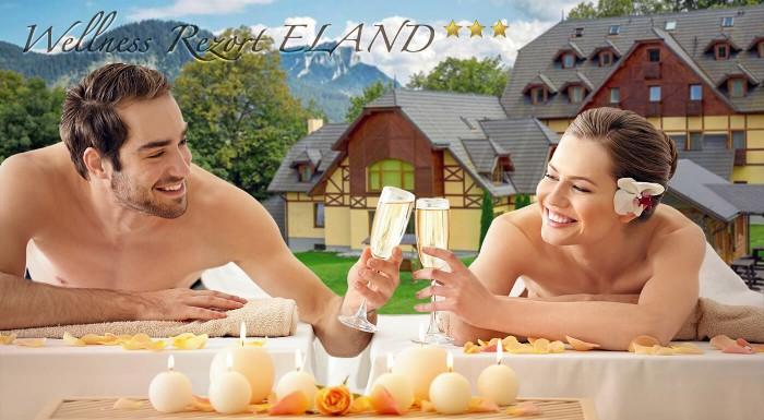 Kvet pre dámu, dezert pre pána, fľaša sektu či saunový svet. To všetko sú romantické detaily, ktoré vás v spojení s krásnou pieninskou prírodou čakajú na pobyte vo Wellness & Spa Ressorte**** Eland.
