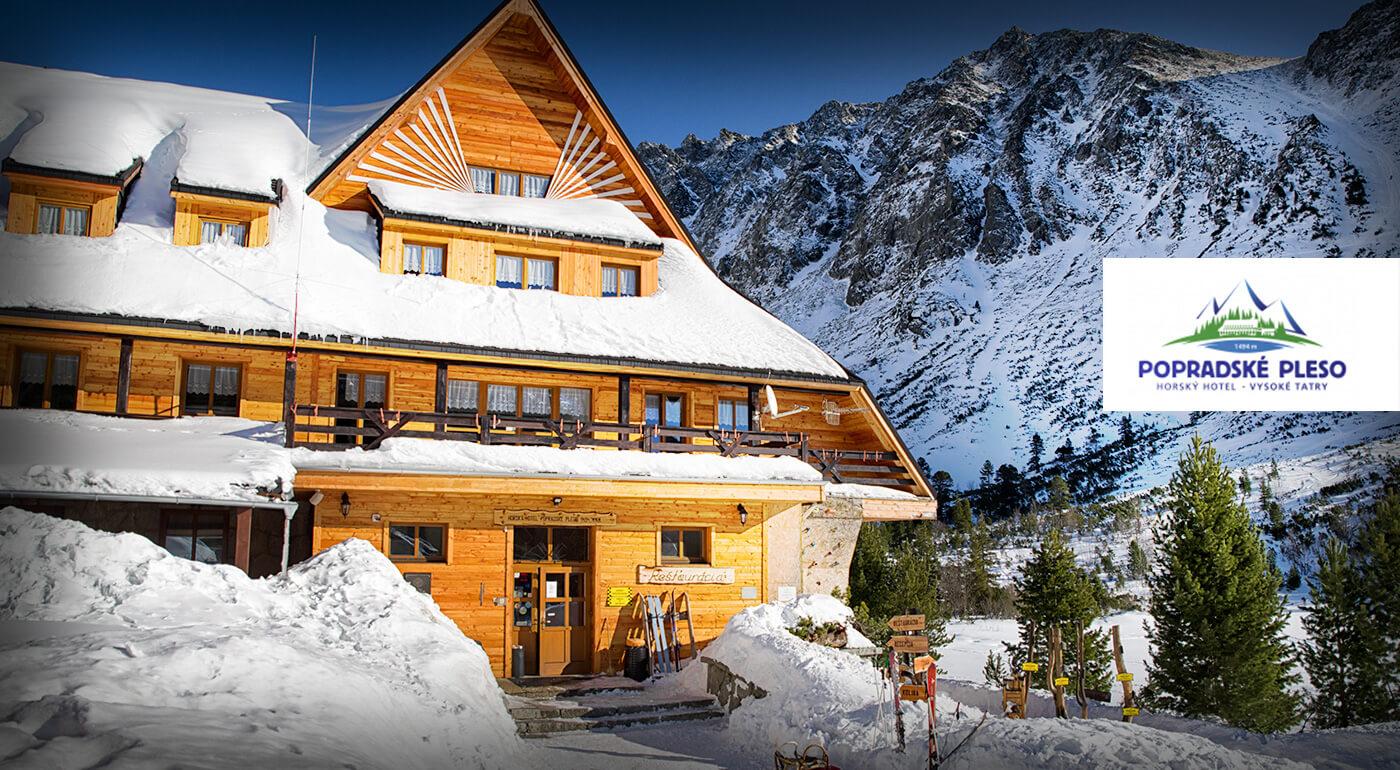 Vysoké Tatry: Zasnežená zimná alebo jarná idylka v Horskom hoteli Popradské pleso s plnou penziou a zľavami do wellness
