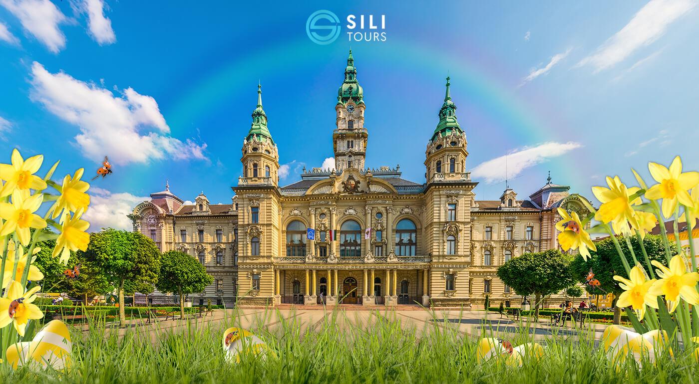 Poďte na Veľkú noc objavovať nové miesta! Na 1-dňovom zájazde s CK Sili Tours vás čaká prehliadka historického centra mestečka Győr, kúpele Rába Quelle a nákupní maniaci si užijú stredisko Árkád.