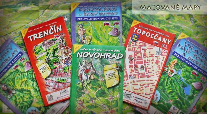 Maľované mapy Slovenské mestá