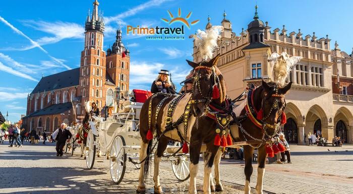 Zľava 30%: Urobte si výlet do Krakowa a objavte jeho veľkolepé kráľovské dedičstvo. Vyberte sa na zájazd s CK Prima Travel a navštívite aj svetoznámu soľnú baňu Wieliczka či rodné mesto Jána Pavla II. Wadowice.