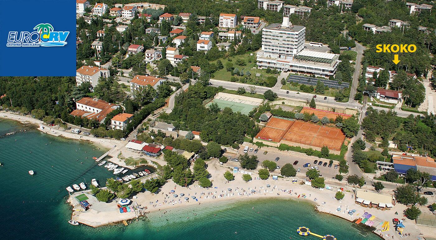 Chorvátsko: letná dovolenka vo Vile Skoko** v Crikvenici s polpenziou, autobusovou dopravou a polohou len 100 m od pláže