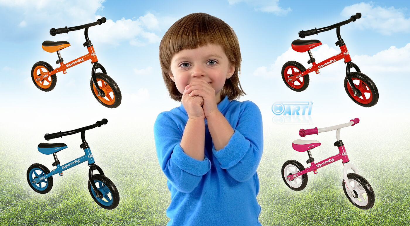 Už malé detičky naučíte bicyklovať. S kvalitnými odrážadlami ART Speedy im to pôjde jedna radosť. Majú ľahkú, pevnú konštrukciu a sú vhodné pre deti od 3 rokov!